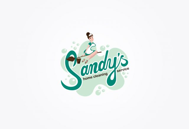 Sandy's home cleaning - Logo Design